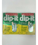 Vintage Dip-It Coffee Pot Cleaner Destainer 5oz New Old Stock RARE Inclu... - $54.44