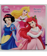Disney Princess Cinderella Cinderella Belle Aurora Ariel Beauty On Ice Book - $3.99