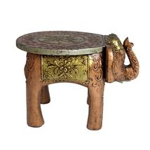 "Wooden Stool Elephant home Decorative Stool 8"" - $54.99"