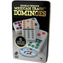 Cardinal Double 12 Color Dot Dominoes in Collectors Tin (Styles May Vary) - $30.95