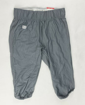 Wilson Performance Fitted Football Game Pant Men's Large Gray Charcoal WTF5631 - $25.73