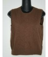 MAX MARA WEEKEND Brown Sleeveless Knit Shirt Top Sz Medium Wool Cashmere - $32.99