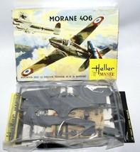 Vintage HELLER MVSEE 1:72 Scale MORANE 406 French Fighter Jet Plane Mode... - $10.00
