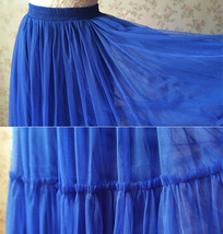 RED Midi Tulle Skirt Red Tiered Tulle Skirt High Waisted Red Tutu Midi Skirt  image 9