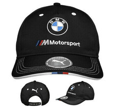 PUMA BMW M BB Motorsport Logo Strap Back Cap Black Baseball Hat 022536 01