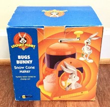 Bugs Bunny Snow Cone Maker Model No. IS1LT Looney Tunes 1998 Warner Bros... - $5.20