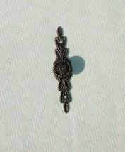 Antique Small Bronze Ornate Metal Knob with Screws - Craft Supplies - $1.20