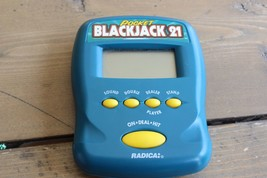 Radica Pocket Blackjack 21 Handheld Game WORKING - $5.94