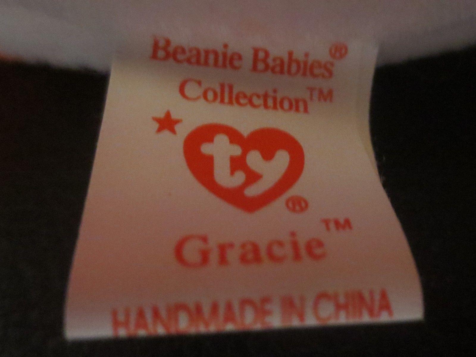 Ty Beanie Baby Gracie 4th Generation Hang Tag 4rd Generation Tush Tag 1996