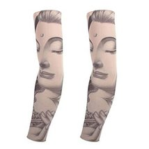 PANDA SUPERSTORE 1-Pair Temporary Tattoo Sunblock Sleeves Body Art Arm Covers fo