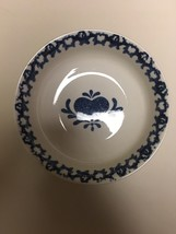 Tienshan Folk Craft Hearts Blue Sponge Soup Cereal Bowl  (1 - 4 available) - $9.89