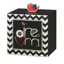 Inspirational Wooden Bird Storage Box Artist  Amylee Weeks Dream Table T... - $13.98