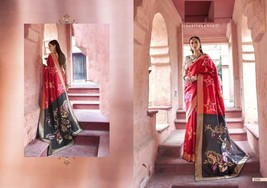 Latest Pure Silk Red Contrast Heavy Rich Weaving Royal Saree Blouse 7646 - $125.76