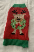 Dog Christmas Reindeer Sweater Warm Winter Wear Red EXTRA LARGE XL Simpl... - $10.99