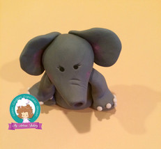 elephant fondant cake topper - $19.00
