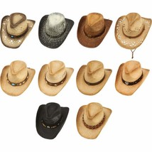 Cowboy Hat Casual Outfitters Setehnn Brim Shape Styles Sun Protect 10Pc.... - $109.95