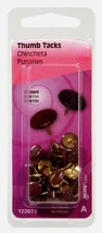 "New! Hillman Thumb Tacks 3/8"" L Brown Home Office Teacher School 40 pk. ... - $5.13"