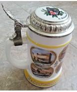 G Heileman Brewing Company Beer Stein 24 oz Milk Glass Bieseidal BMF Fra... - $26.24