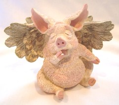 Sleepy Winged Pig Figurine - $12.95