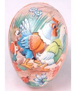 "Vtg Papier Mache Egg Box-Duck Rabbit-Made in West Germany-Paper-3.25"" - $24.30"