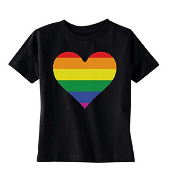 Rainbow Heart Gay Pride TODDLER T-shirt LGBT Walk Gift Pride