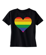 Rainbow Heart Gay Pride TODDLER T-shirt LGBT Walk Gift Pride - $15.95