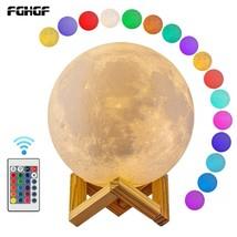 16 color New Dropship 3D Print Moon Lamp Colorful Change Touch Usb Led N... - €27,89 EUR