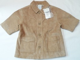 Baby Coat Leather Lined Gymboree Infant Boys Suede 6-9 mo's NWT - $13.90