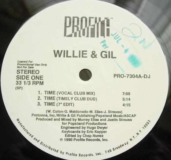WILLIE & GIL - Time - Profile PRO-7304-DJ - PROMO