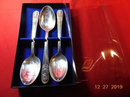 Wm Rogers Mfg Co, Presidential Spoons. Lot of 3, Hayes, Garfield, Arthur. - $12.99
