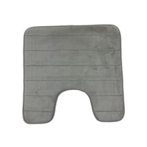 Soft Memory Foam Silver Grey Durable ANTI-SLIP Pedestal Mat 50X50CM - $10.59