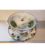 Golden Rabbit Enamelware - Colander and Drip Plate Set - Radish's, Nice Set - $30.46