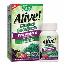 Nature's Way Alive! Garden Goodness Women's  Multivitamin, Veggie & Fruit Blend