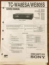 Sony TC-WA8ESA TC-WE805S Tape Cassette Service Manual *Original* - $15.78