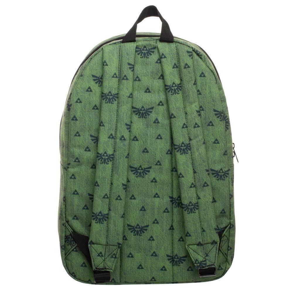 The Legend Of Zelda Triforce Pattern Backpack Bag Green