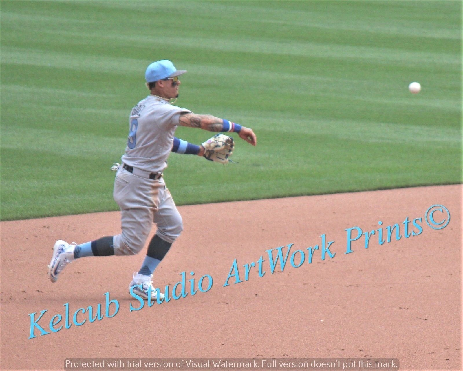 Primary image for Original Javier Javi Baez Chicago Cubs Pic Various Size PhotoArt NLCS Co-MVP