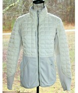 Patagonia Size Medium Down Zip Jacket White Ski Snowboard Polartec Hybri... - $46.54