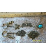 # purse jewlrey bronze color keychain backpack filigree charms lot 06 lo... - $5.56