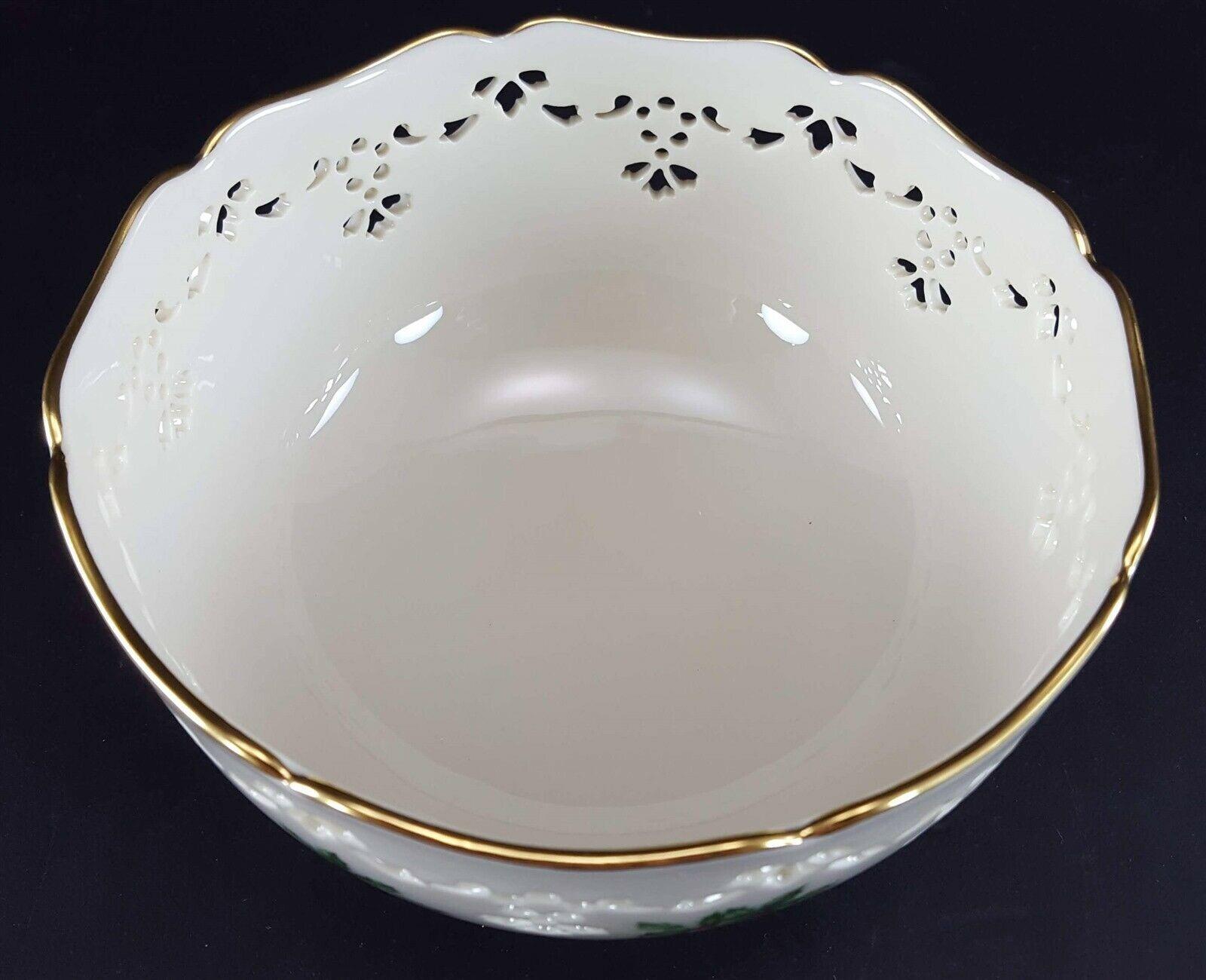 "LENOX China Holiday Dimension Pierced All Purpose Bowl 6"" Dinnerware image 4"