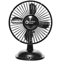Comfort Zone(R) CZ5USBBK Battery/USB Oscillating Desk Fan - $31.98