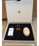 Chanel No 5 Perfume Set Lotion 3.4 oz Eau Toilette EDT 1.7 Soap Bar Refi... - $75.12