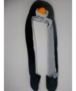 35 In PLUSH PENGUIN HAT ANIMAL LONG PAWS HAND WARMER BEANIE CAP WILD NEW... - £14.12 GBP