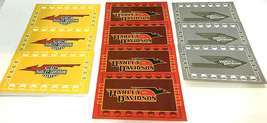 Harley Davidson Assorted Blank Note Card Set 4-Red 3-Yellow 3-Gray VTG 2... - $19.35