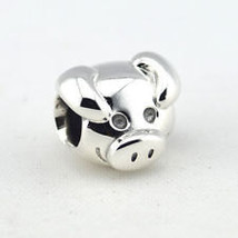 Authentic Pandora Sterling Silver 925 ALE Playful Pig Head  Charm - $26.00