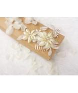 Wedding hair comb Floral hair piece Wedding hair accessories Ivory hair ... - $17.89