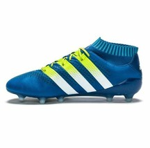 New Adidas Ace 16.1 Men Primeknit Firm Ground Soccer Cleats Blue Variety Sizes - $179.99