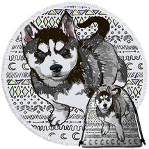 Husky Puppy  Beach Towel - $12.32+