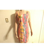Wome M L 9 10 12 14 Midi Green Pink Floral Orang Blue Dress Knee Career ... - $18.82