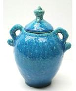 "Interesting 4.5"" W x 5.5"" T Ceramic Covered Urn Anchor Symbol Vintage Bl... - $37.39"