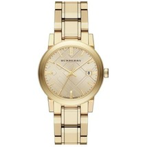 NEW Burberry Light Champagne Dial light Gold-tone Ladies Watch BU9134 - $345.59